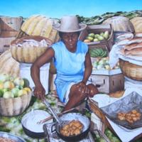 "SL_Paintings 10_Machann Fritay, 30""X 36, Oil on canvas, 2006.jpg"