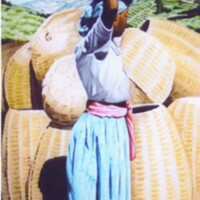 Young Girl with Baskets